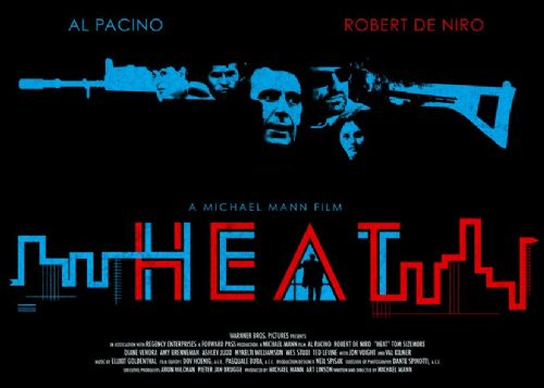 1990's Movie - HEAT - ALTERNATE POSTER / canvas print - self adhesive poster - photo print
